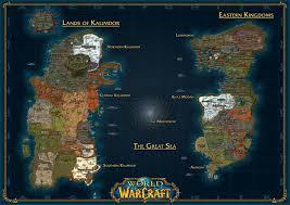 kalimdor map of warcraft map lands of kalimdor eastern kingdoms