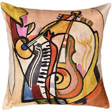 Contemporary Throw Pillows For Sofa by Music Is My Life By Alfred Gockel Accent Pillow Cover Handmade Art