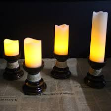 liander led lighted flickering flameless candles pillar candle
