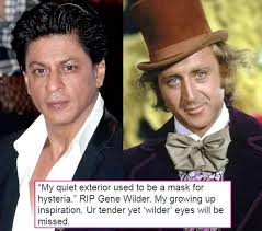Willy Wonka And The Chocolate Factory Meme - shah rukh khan mourns the death of willy wonka and the chocolate