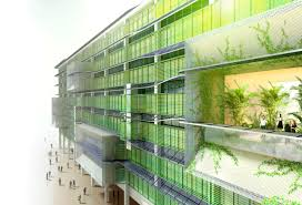 hok process zero concept building the facade uses algae housing