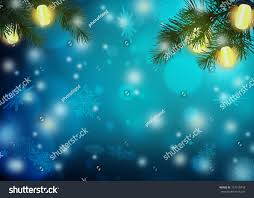 Branch Christmas Tree With Lights - blue christmas night christmas tree branches stock illustration