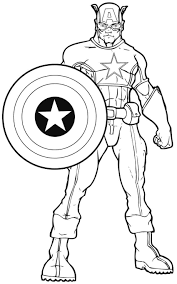 free printable captain america coloring pages eson me