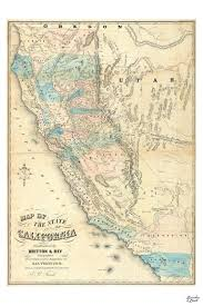 Map Of Calif Map Of California 1853 Unique Handcrafted Gifts