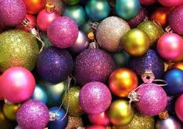 Pink Purple Blue Christmas Decorations by Blue Christmas Ornaments Festive Green Ornaments Image