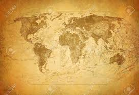 Vintage Map World Map Vintage Stock Photos Royalty Free World Map Vintage