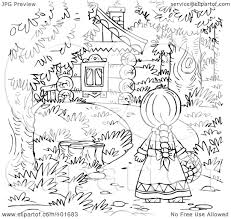 holiday coloring pages little red riding hood coloring pages