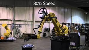 fanuc r 2000ib 165f industrial robot youtube