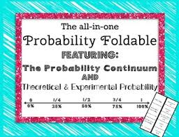 Experimental Probability Worksheet The All In One Probability Foldable Math And Math Tutor