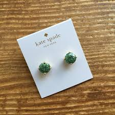 sparkly green earrings kate spade 2 40 kate spade earrings teal green glitter studs