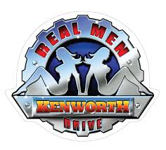 kenworth truck logo kenworth u0027real men drive u0027 sticker connect4designs