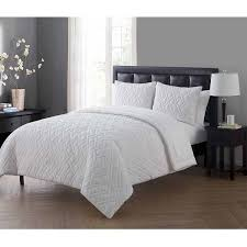 vcny home lattice embossed 5 7 piece bed in a bag comforter set
