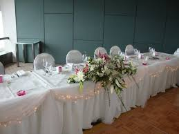 Table skirting for bridal table at weddings 6m for hire rent or
