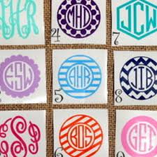 monogram stickers monogram sticker monogram decal car from pricklypearscompany on