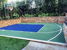 Backyard Sport Courts Snapsports Cool Little Backyard Basketball Court Install