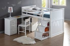 Antique White Bunk Beds Bunk Beds With Desks Large Wyatt White Loft Unit Desk And