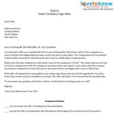 printable sample offer letter sample form laywers template forms