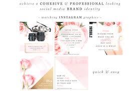 vintage si e social pink gold black social media templates photographer marketing