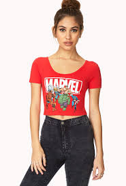 Marvel Super Heroes Clothing Forever 21 Marvel Superheroes Crop Top You U0027ve Been Added To The