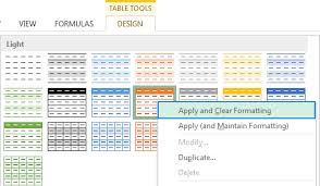 Change Table Style How To Change Excel Table Styles And Remove Table Formatting