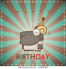 funny happy birthday greeting card cute stock vector 162025400