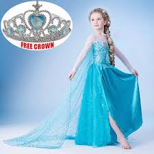 kids girls bridal dresses inspired disney frozen elsa