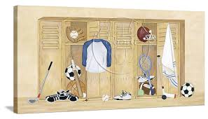 Sports Themed Wall Decor - sports locker variety canvas wall art page 3 page 3