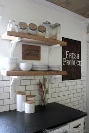 subway tile backsplashes for kitchens diy farmhouse kitchen makeover all the details open shelving
