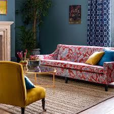 sanderson shalimar china blue linen fabric 226319