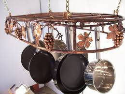 lighted hanging pot racks kitchen stylish ways to store pots and pans in an organized kitchen
