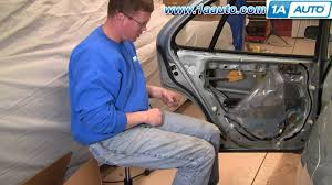 how to install replace broken rear outside door handle toyota