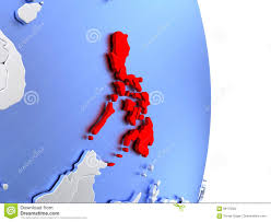 Philippines On World Map by Philippines On Elegant Modern 3d Globe Stock Illustration Image