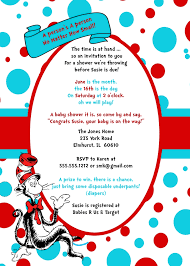 dr seuss baby shower invitations dr seuss cat in the hat birthday party invitation
