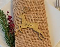 Christmas Reindeer Table Decor by Gold Table Decor Etsy