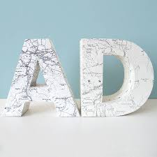 Map Letters Personalised 3 D Map Letter