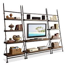 Short Ladder Bookcase by Furniture Custom Wooden Leaning Bookcase In Brown And Five Tier