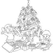 coloring page of christmas tree with presents christmas tree coloring pages 22 xmas online coloring books and
