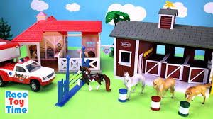 horse stable barn animal rescue breyer playset toy animals