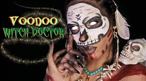 witch doctor and voodoo doll costume voodoo witch doctor makeup halloween 2016 youtube
