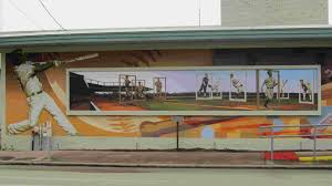 mural project historic waxahachie the legends baseball mural was completed in 2014 on the north side of the parks and recreation building at the corner of elm and madison streets in downtown