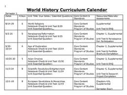 Curriculum Map Template curriculum calendar or map template by michele luck s social studies