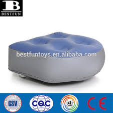 high quality flocked pvc inflatable tub booster seat durable