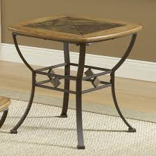 Slate Dining Room Table End Table With Wood Slate Top By Hillsdale Wolf And Gardiner
