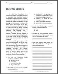 the 1860 election free printable american history reading with