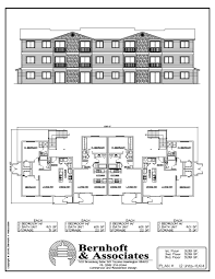 4 Unit Apartment Building Plans Apartment Multi Unit Apartment Plans