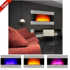 1500w stainless steel wall mount electric fireplace led heater