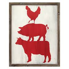 Pig Decor For Home by Cow Pig U0026 Rooster Wall Art U2013 Stratton Home Decor