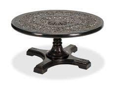 Aluminum Pedestal Excelsior 60 Round Cast Aluminum Slat Top Table With Pedestal Base