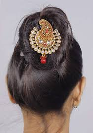 bun accessories traditional hair jewelry gold tone bun pin indian hair