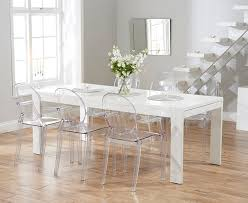 kartell glossy dining table white ghost chair dining chairs armless orlanpress info
